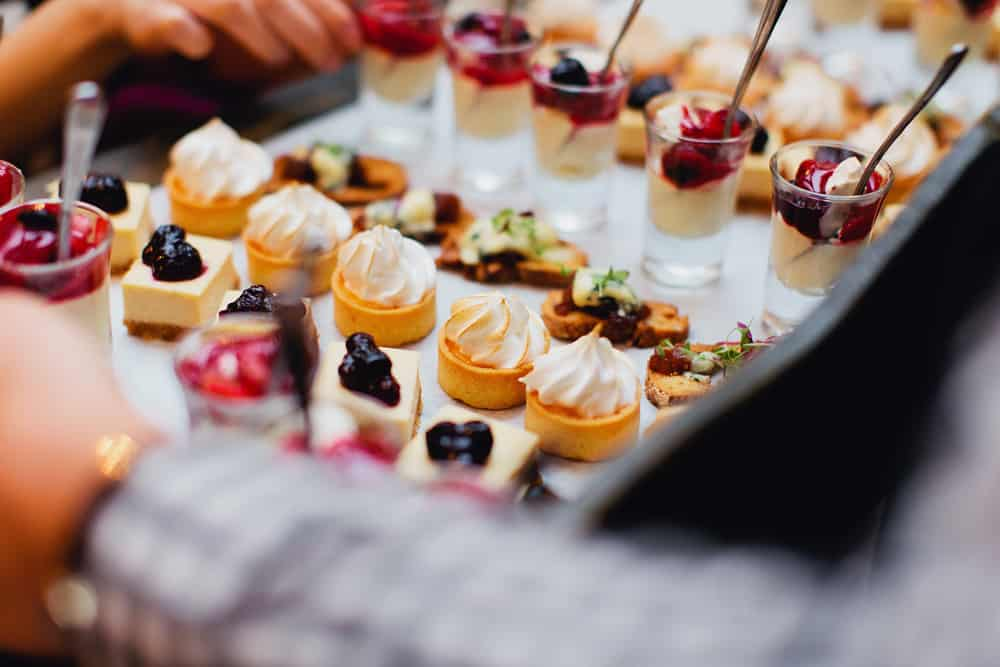 roving dessert canapes