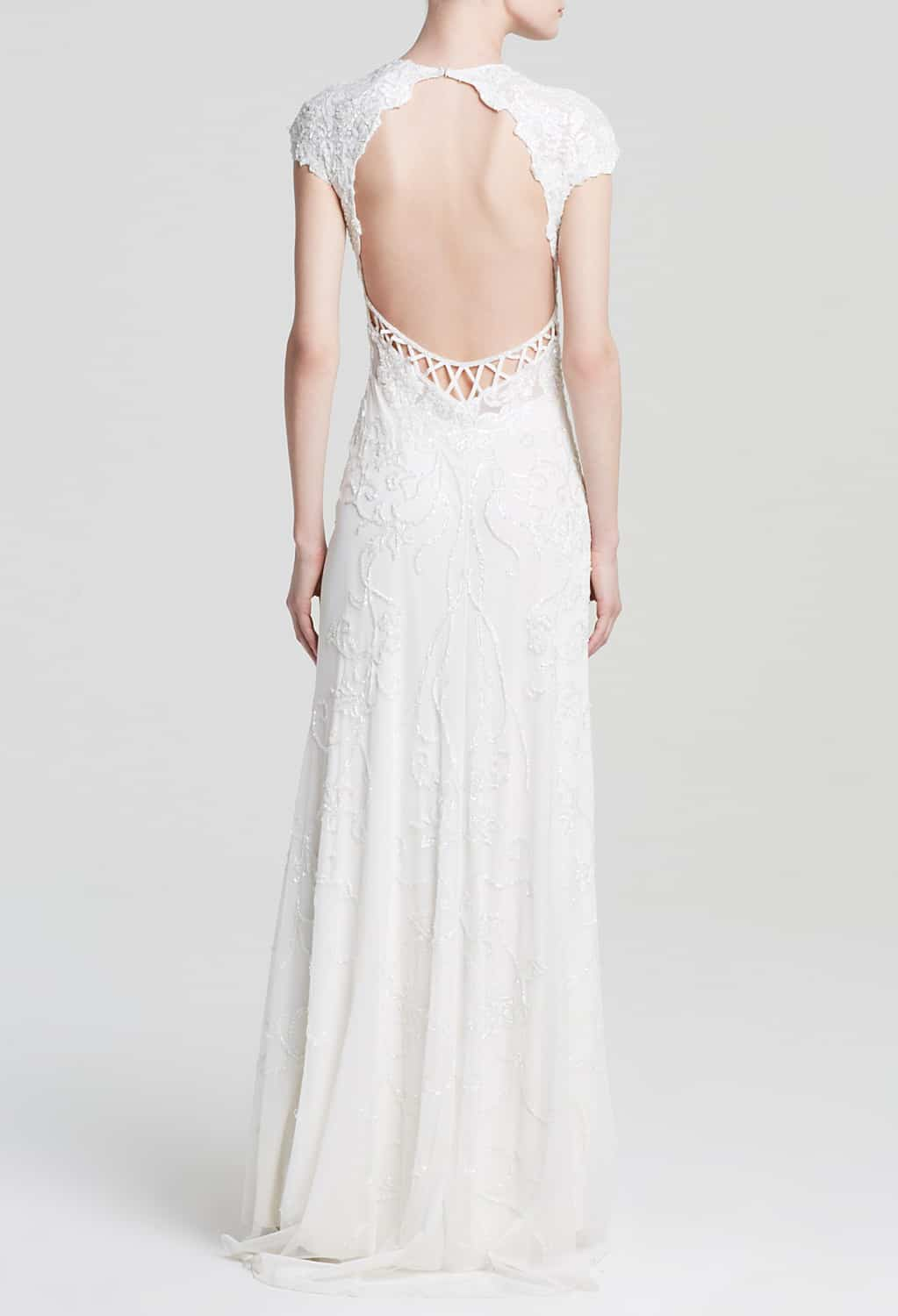 Top wedding dresses under $1000 - backless gown by Mac Duggal
