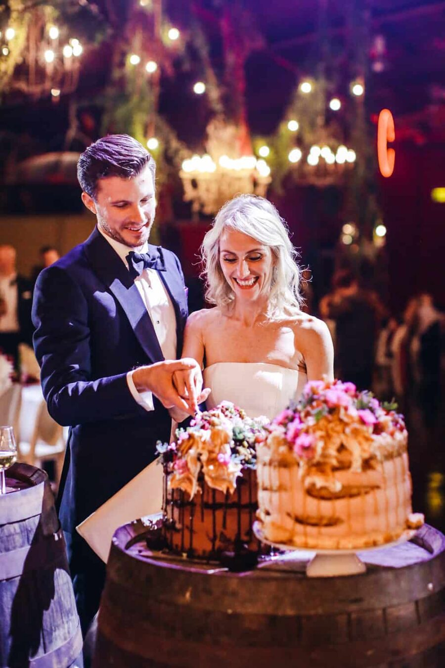 decadent wedding cakes by Andy Bowdy