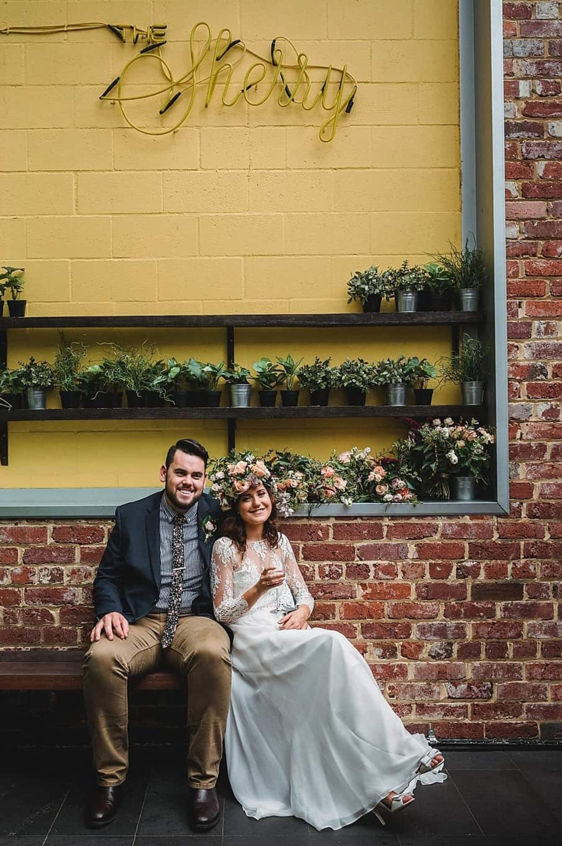 vintage/industrial wedding at The Flour Factory Perth - CJ Williams photography
