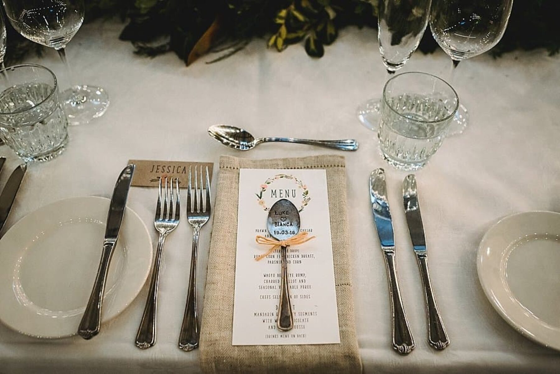 vintage stamped spoon wedding favour