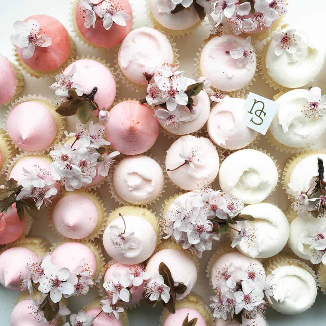beautiful cupcakes by Melbourne dessert designer Nectar & Stone
