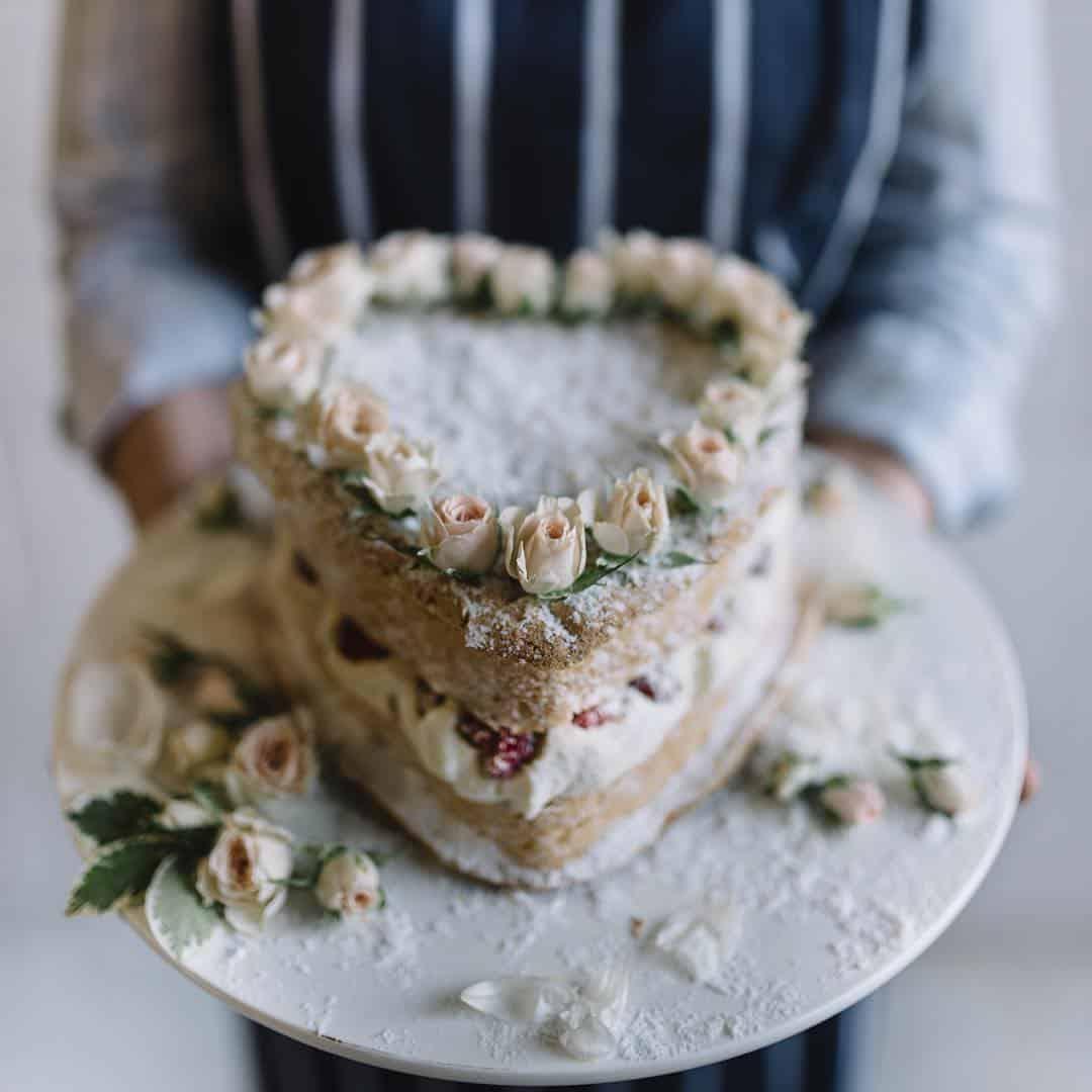 organic Victoria sponge cake by Brisbane baker Gillian Bell