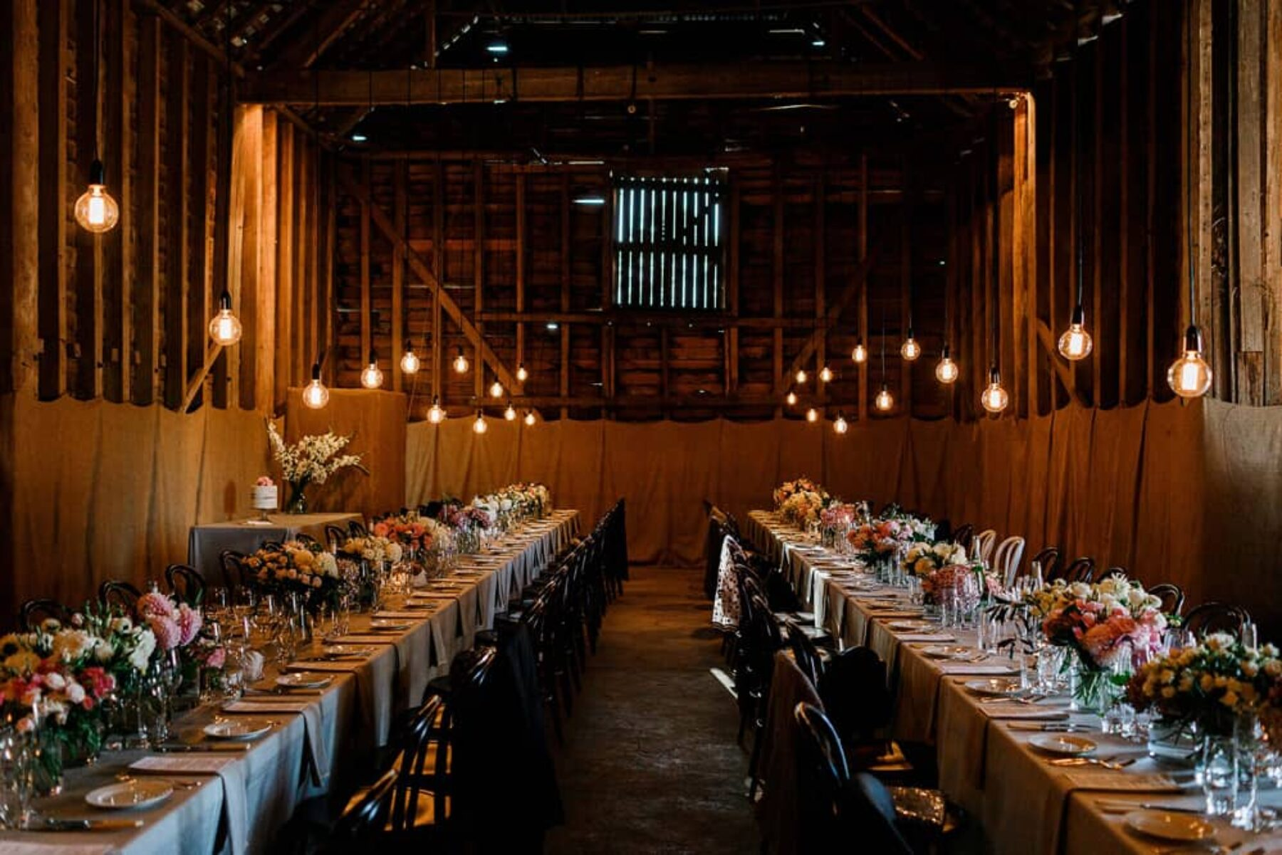 rustic barn wedding at Brickendon Estate Launceston styled by Bek Burrows