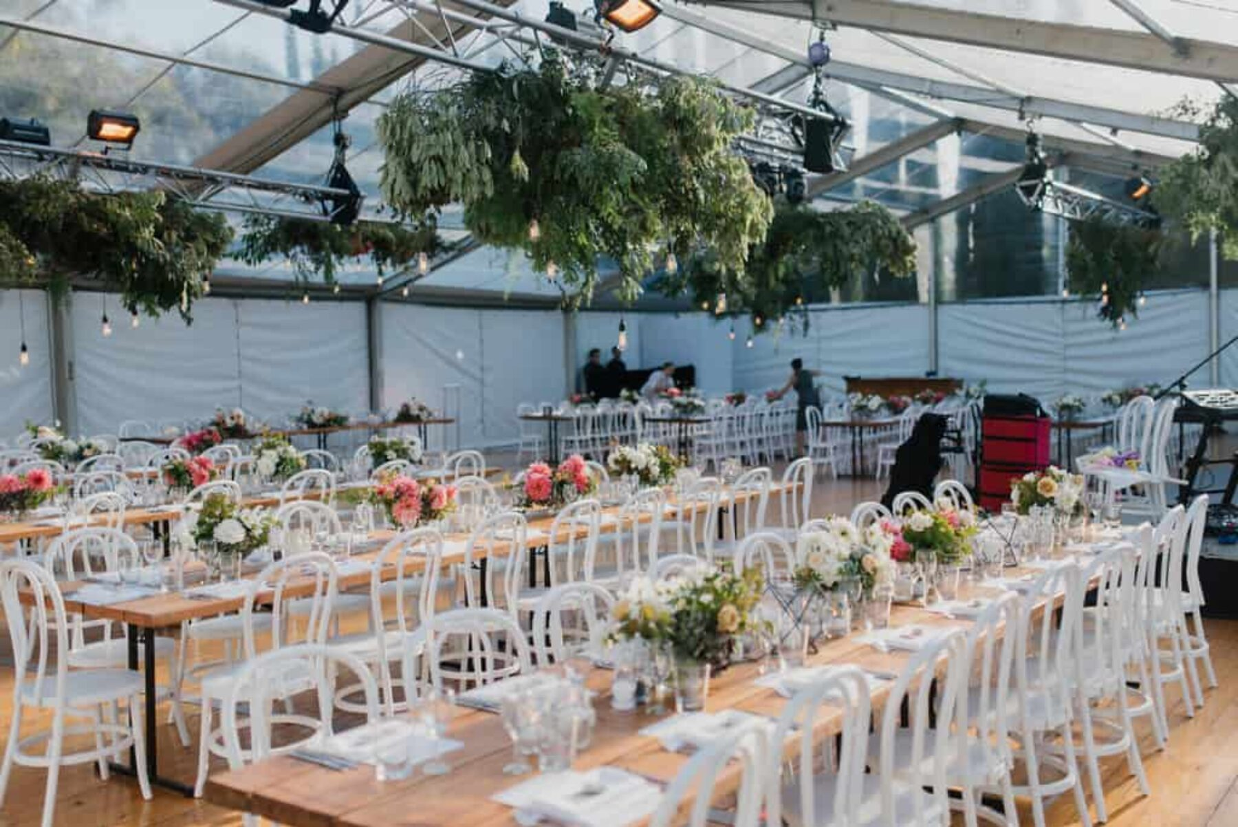 modern marquee wedding