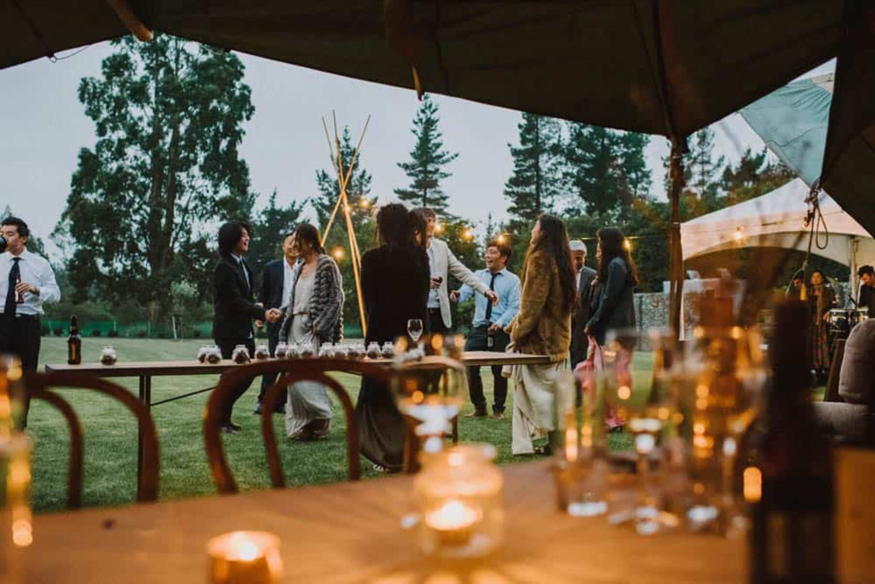 Boho tipi wedding on an olive farm in Christchurch NZ - photography by Paul Tatterson