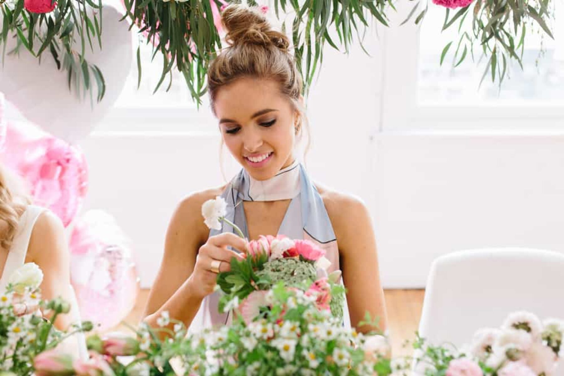 posy-making workshop with Hi Petal