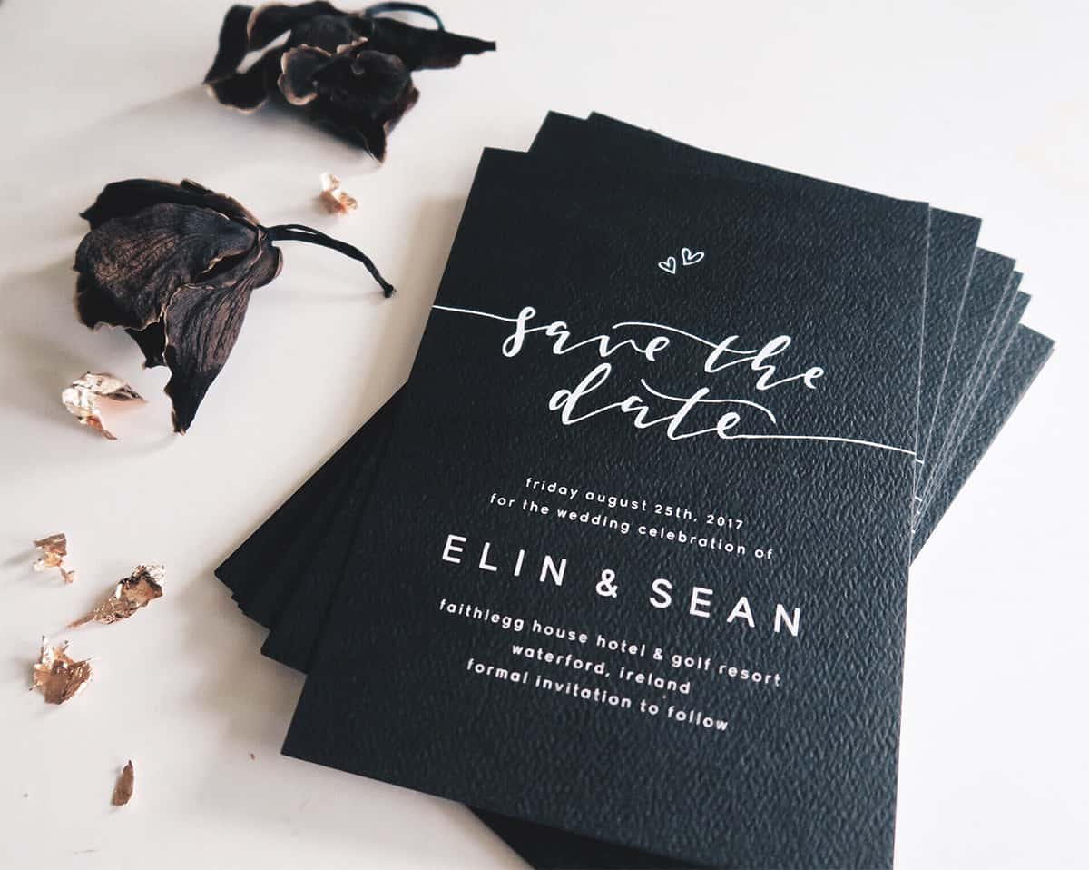 Paige Tuzée Designs modern calligraphy wedding