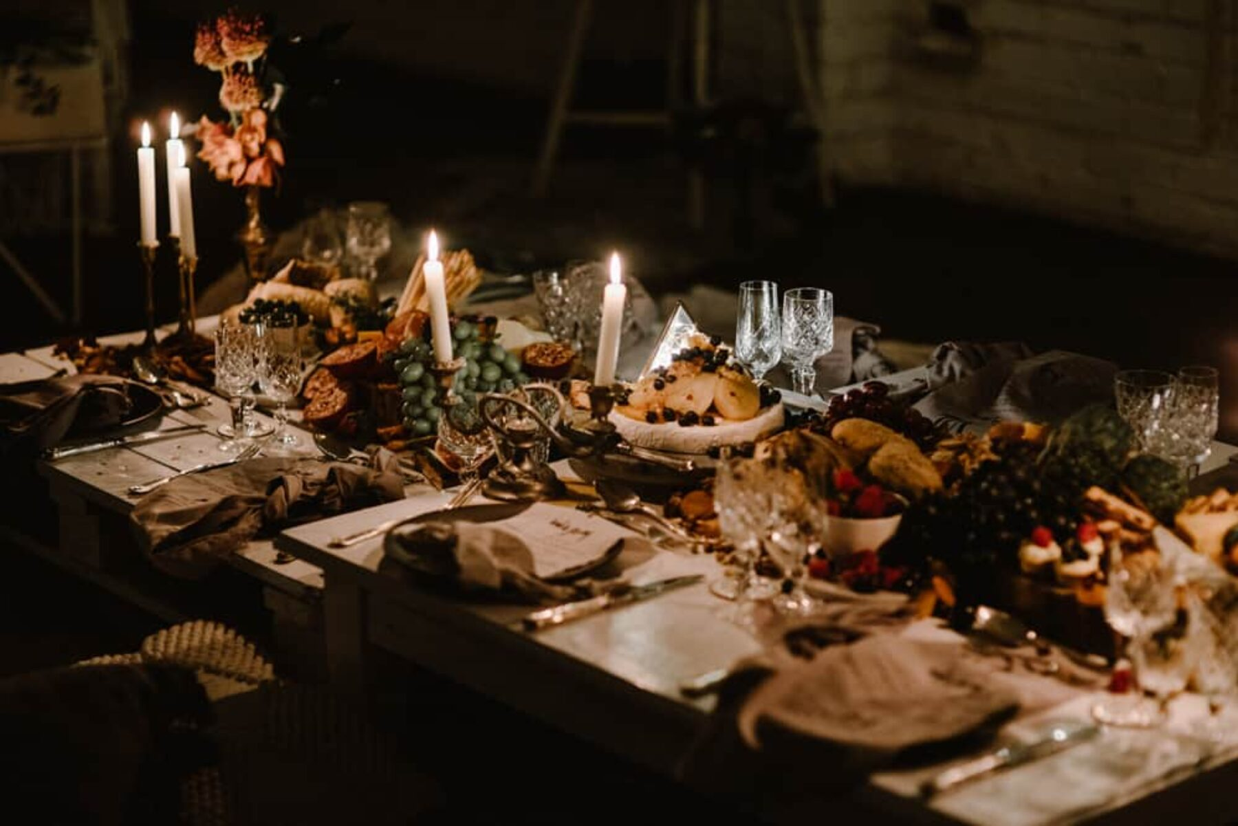 rustic grazing table for a foodie hen's party