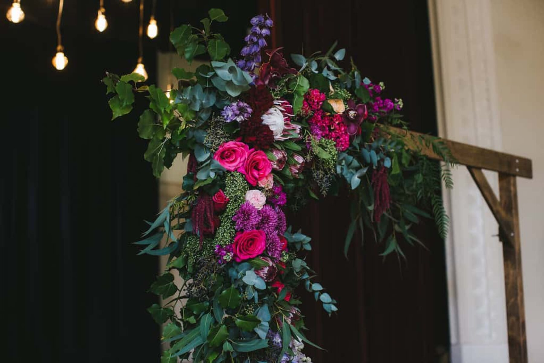 jewel-toned floral arbour