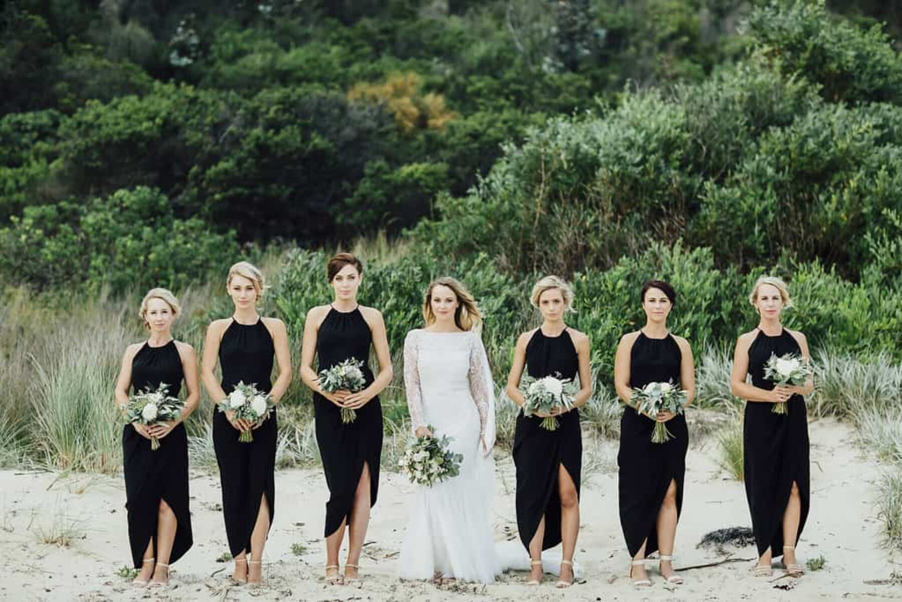black bridesmaid dresses by Shona Joy