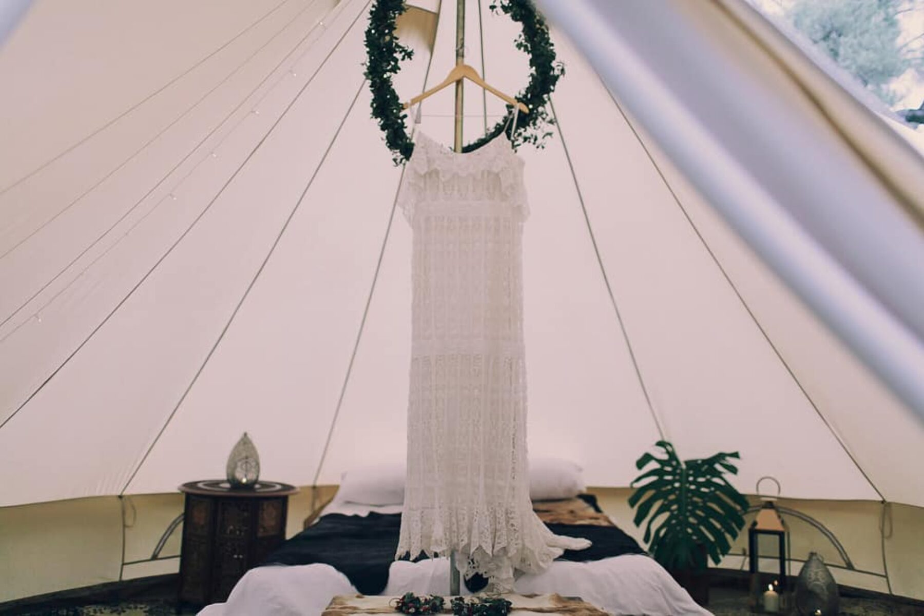 glamping wedding bell tent