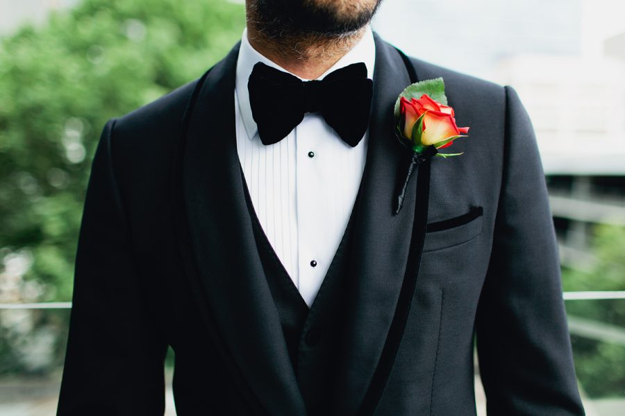 Dolce & Gabbana wedding tux and bow tie
