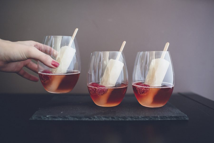 modern cocktails with popsicles