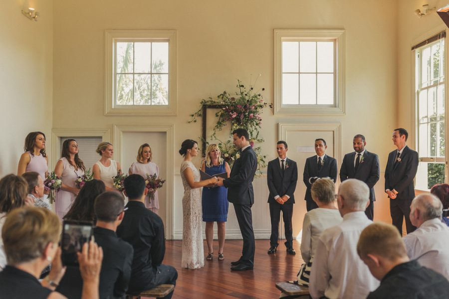 Vintage Auckland wedding at Ponsonby Community Hall