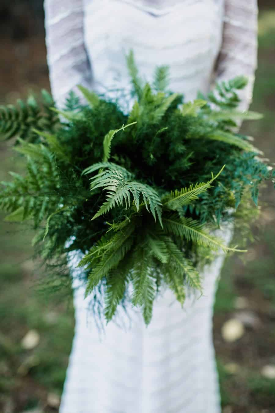 best wedding bouquets 2016 - green fern foliage bouquet