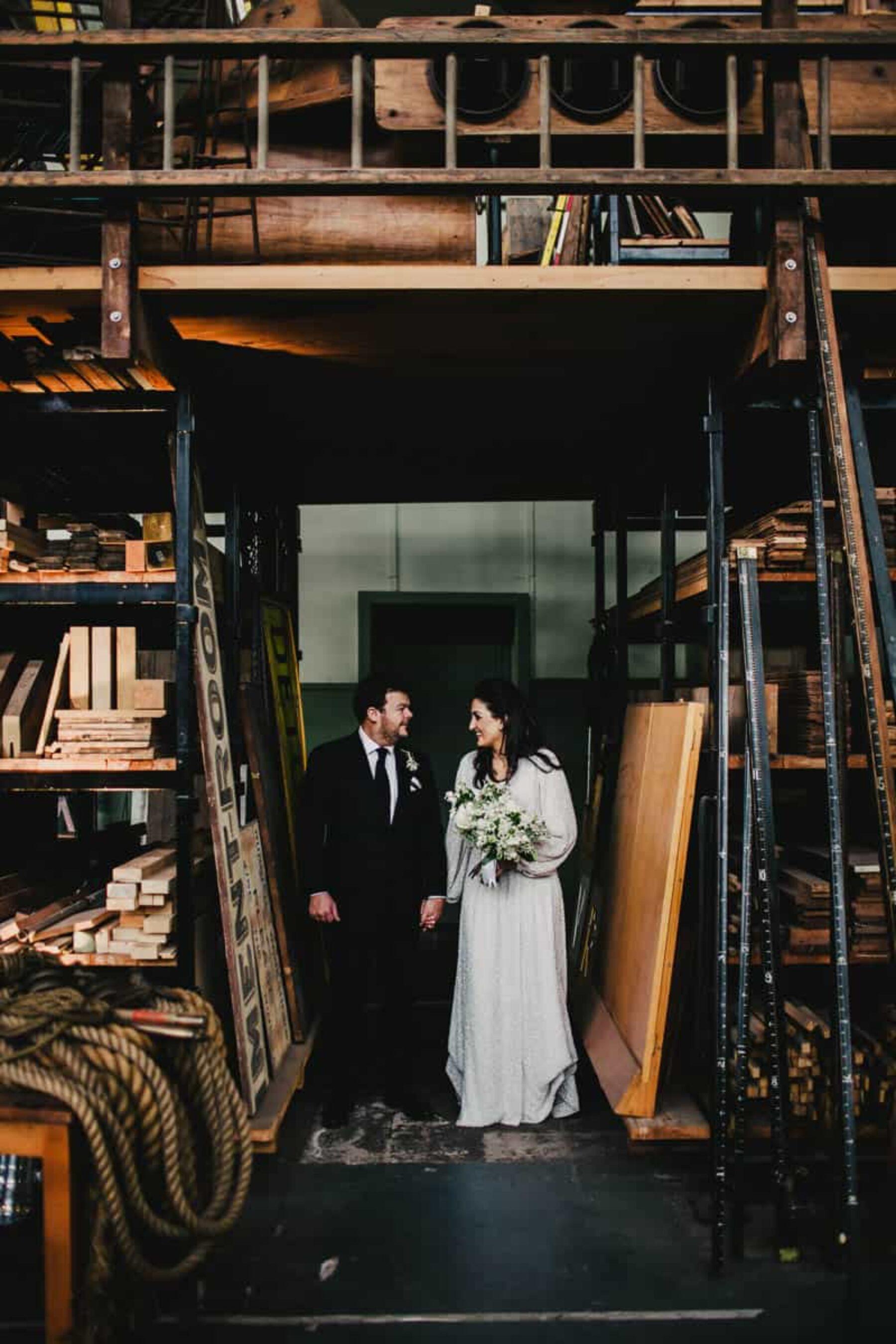 Melbourne warehouse wedding at Lauren's Hall - photography by Daniel Brannan
