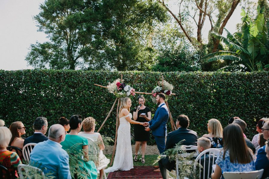 boho DIY wedding at Merribee House - photography by John Benavente