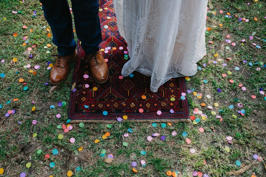 colourful wedding confetti
