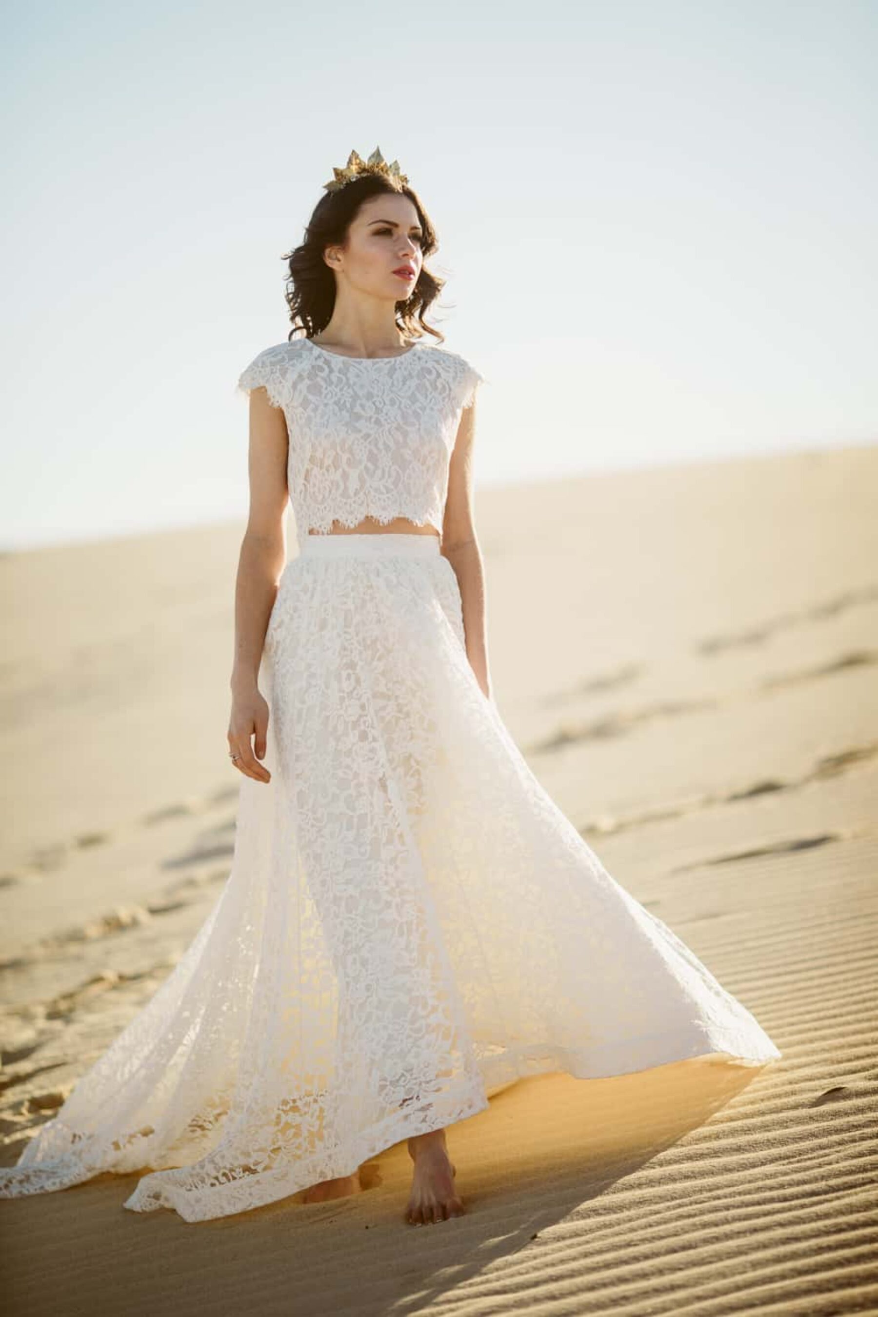 two piece lace wedding dress by Tatyana Merenyuk