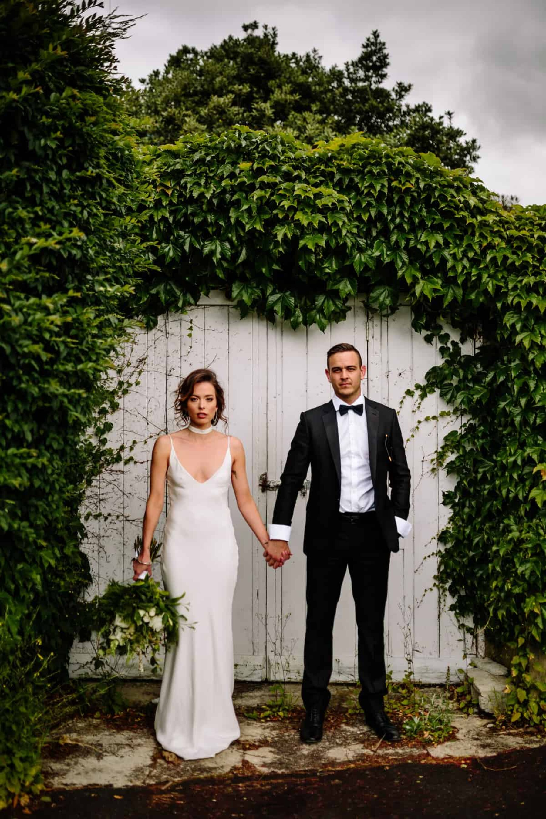Modern wedding inspiration with plenty of greenery