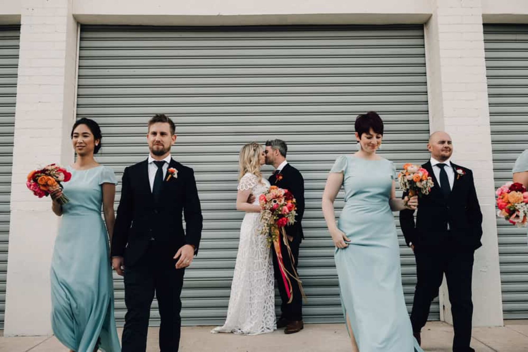 Colourful Perth City Farm wedding by James Simmons Photography