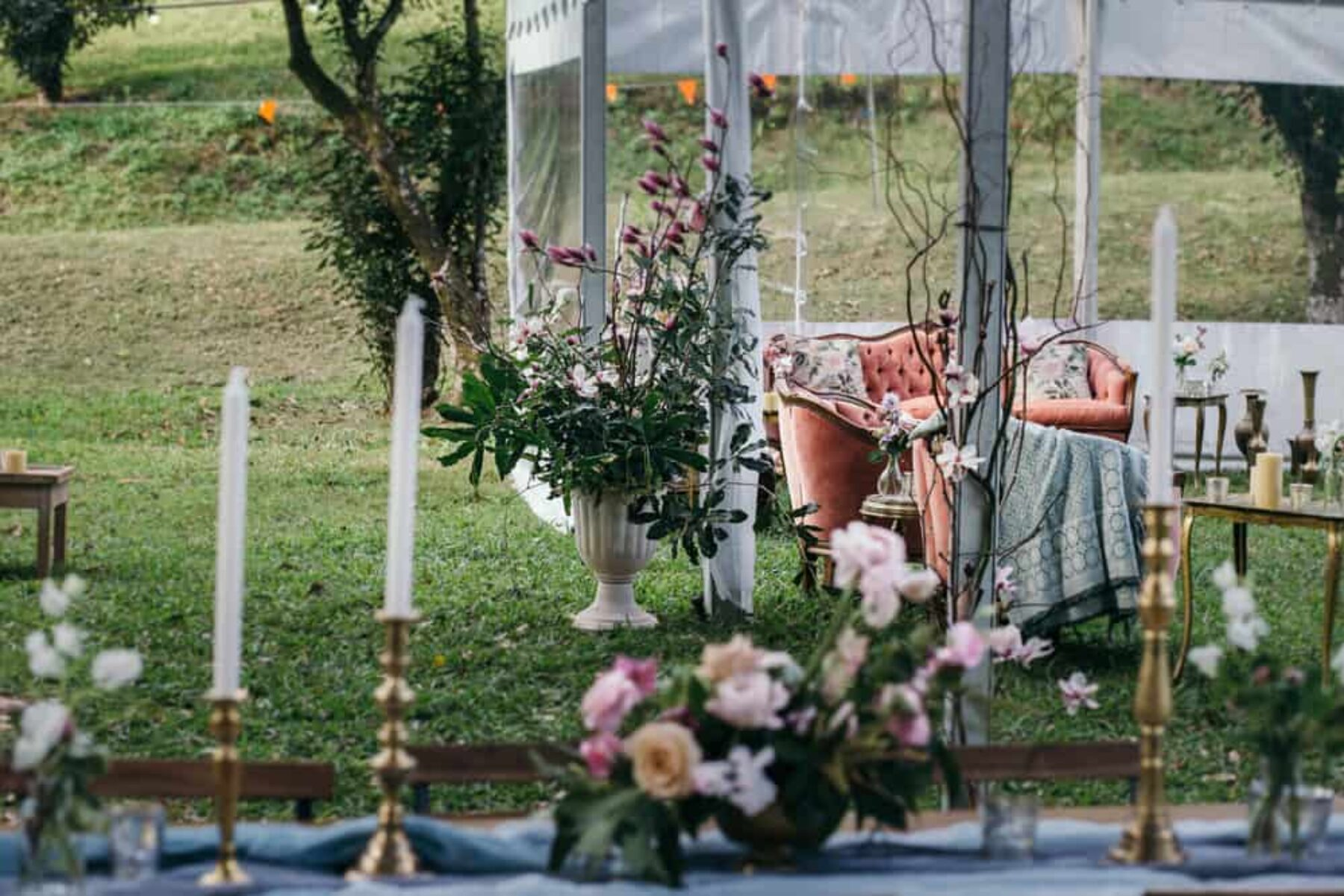 vintage boho wedding at Maca's Camping Ground