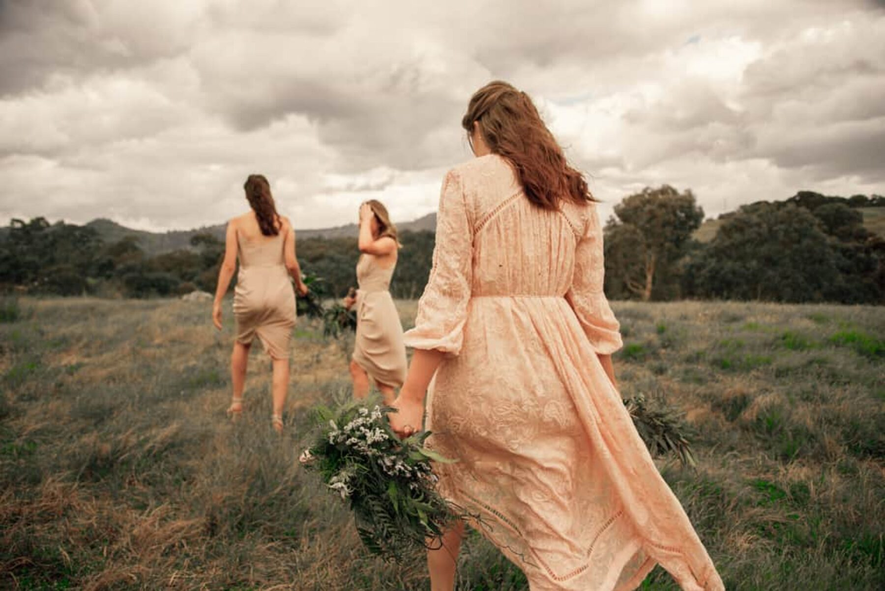 blush bridesmaid dresses by Zimmermann