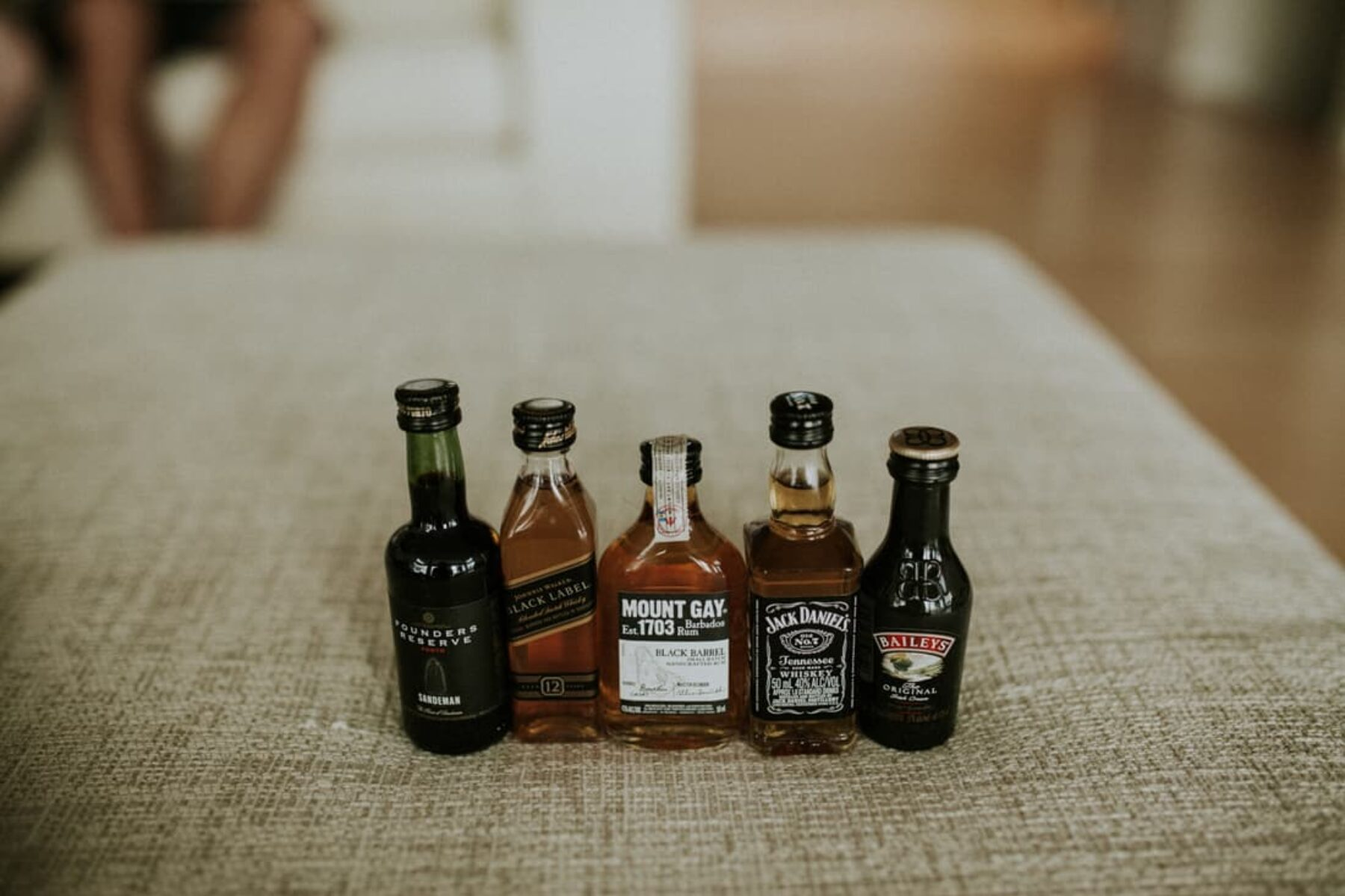 mini whiskey bottles