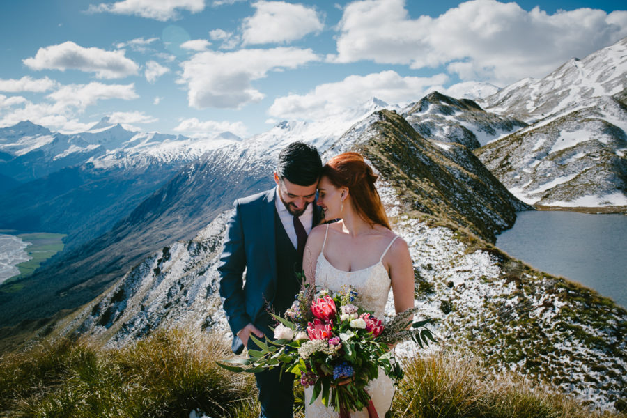 helicopter mountain wedding Lake Wanaka NZ