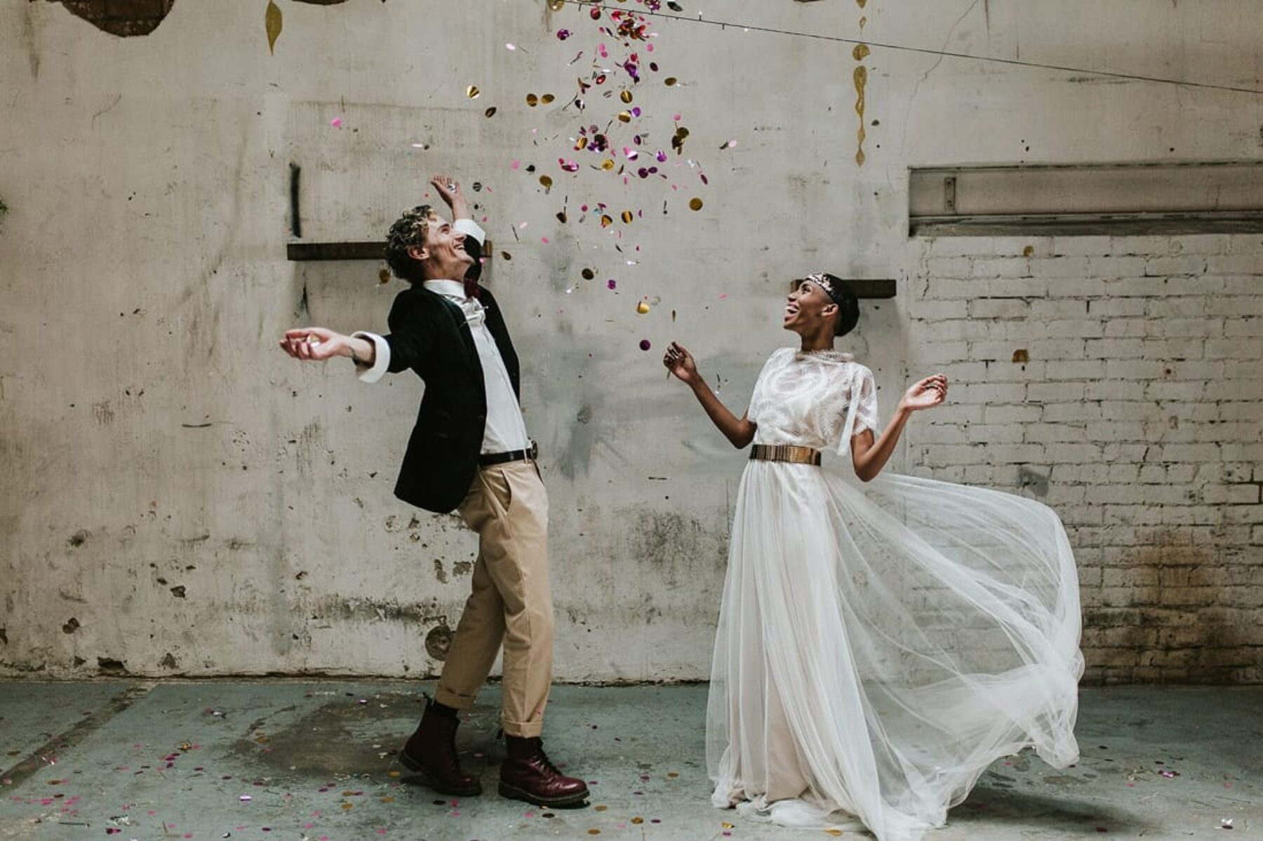 vitage/industrial wedding inspiration