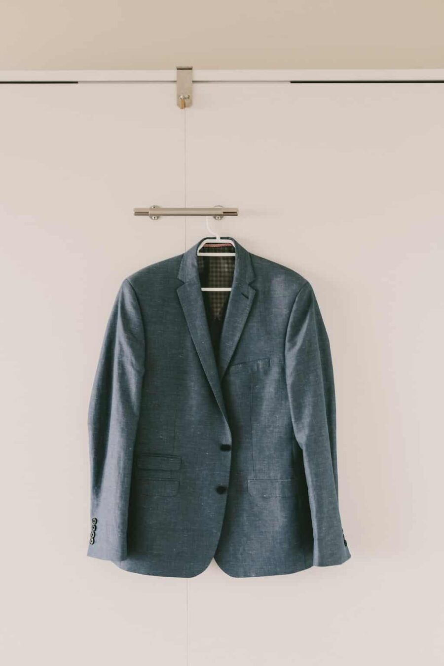 grey-blue blazer