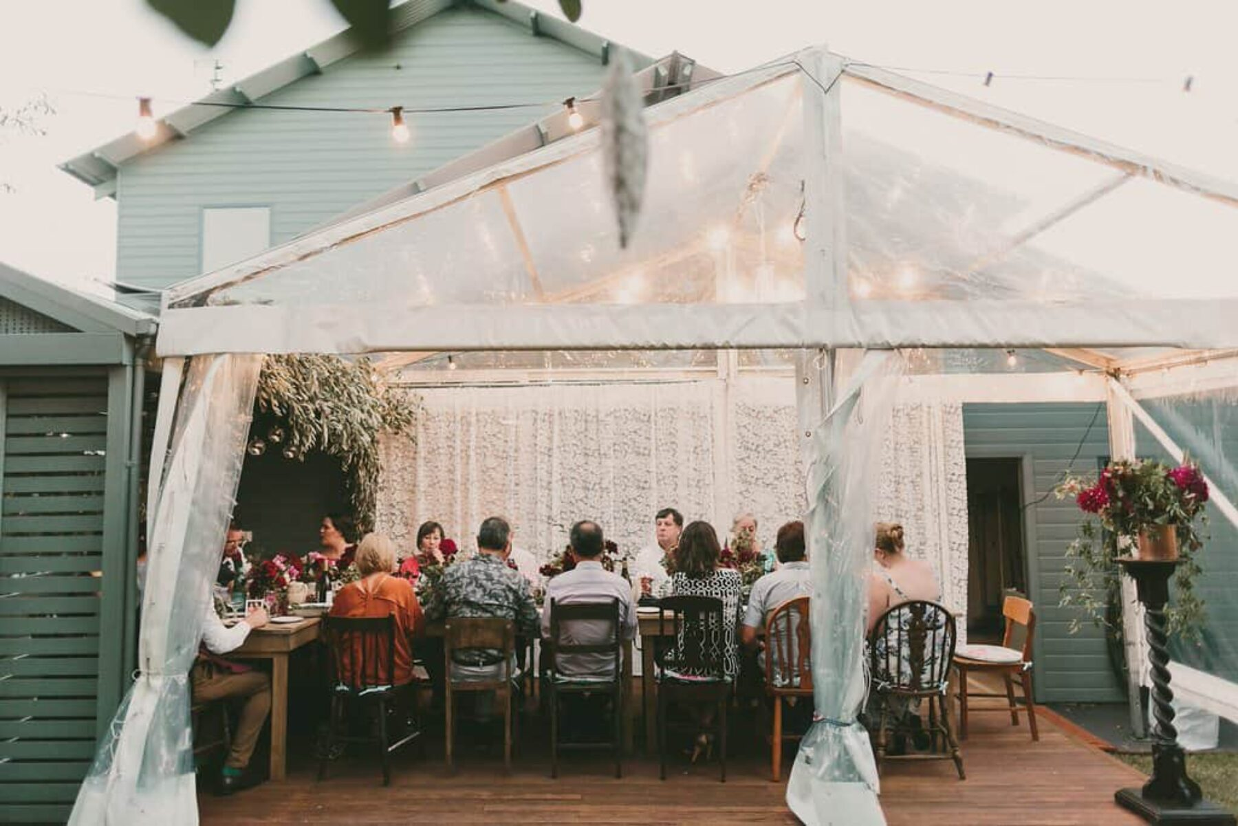 vintage backyard wedding