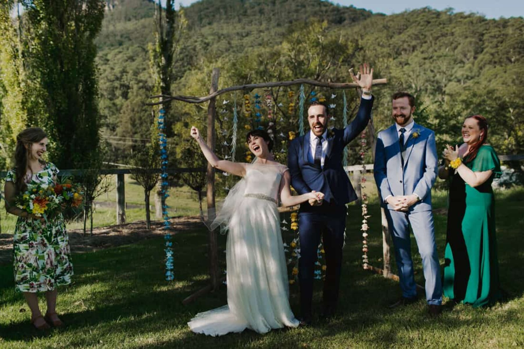 Eco-friendly wedding in the Kangaroo Valley