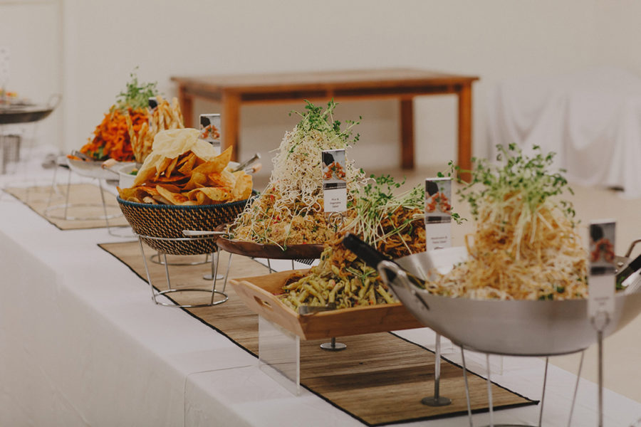 modern wedding buffet