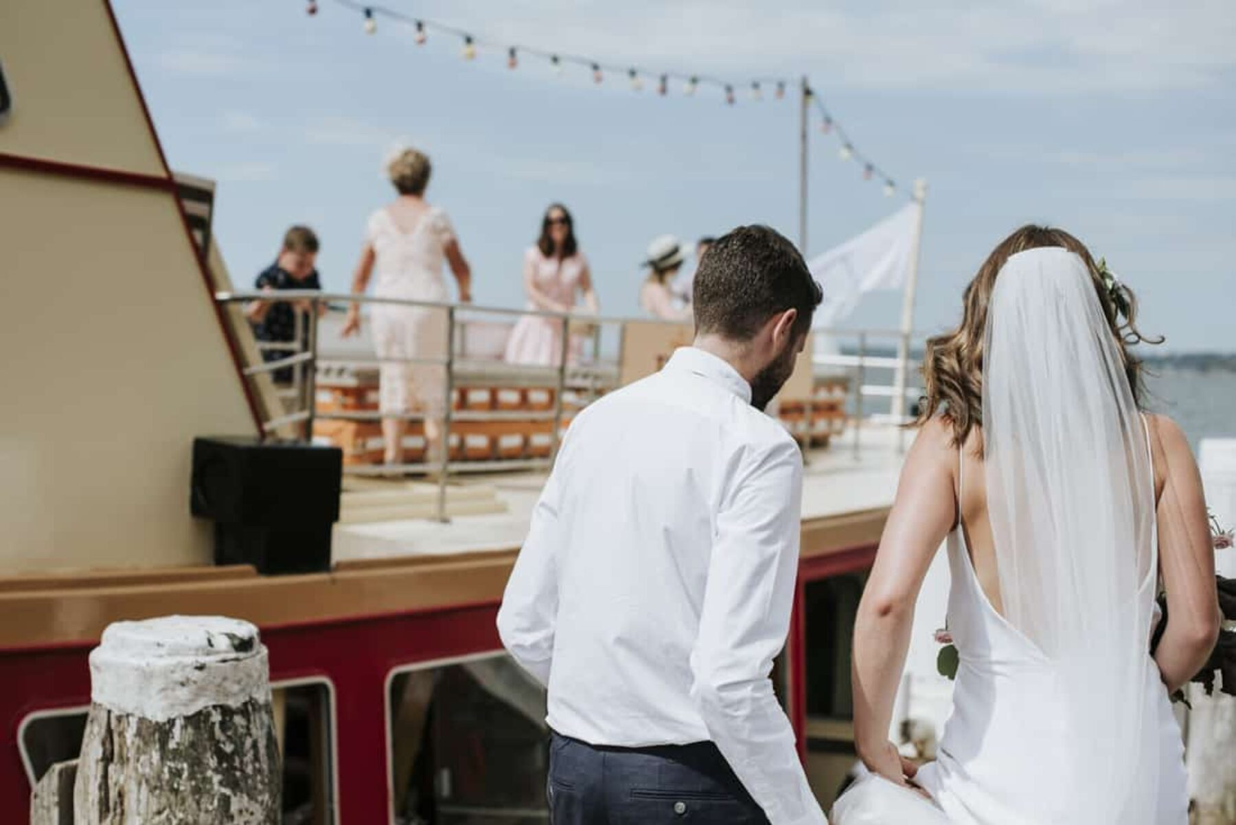 Sydney Harbour wedding on a vintage ferry
