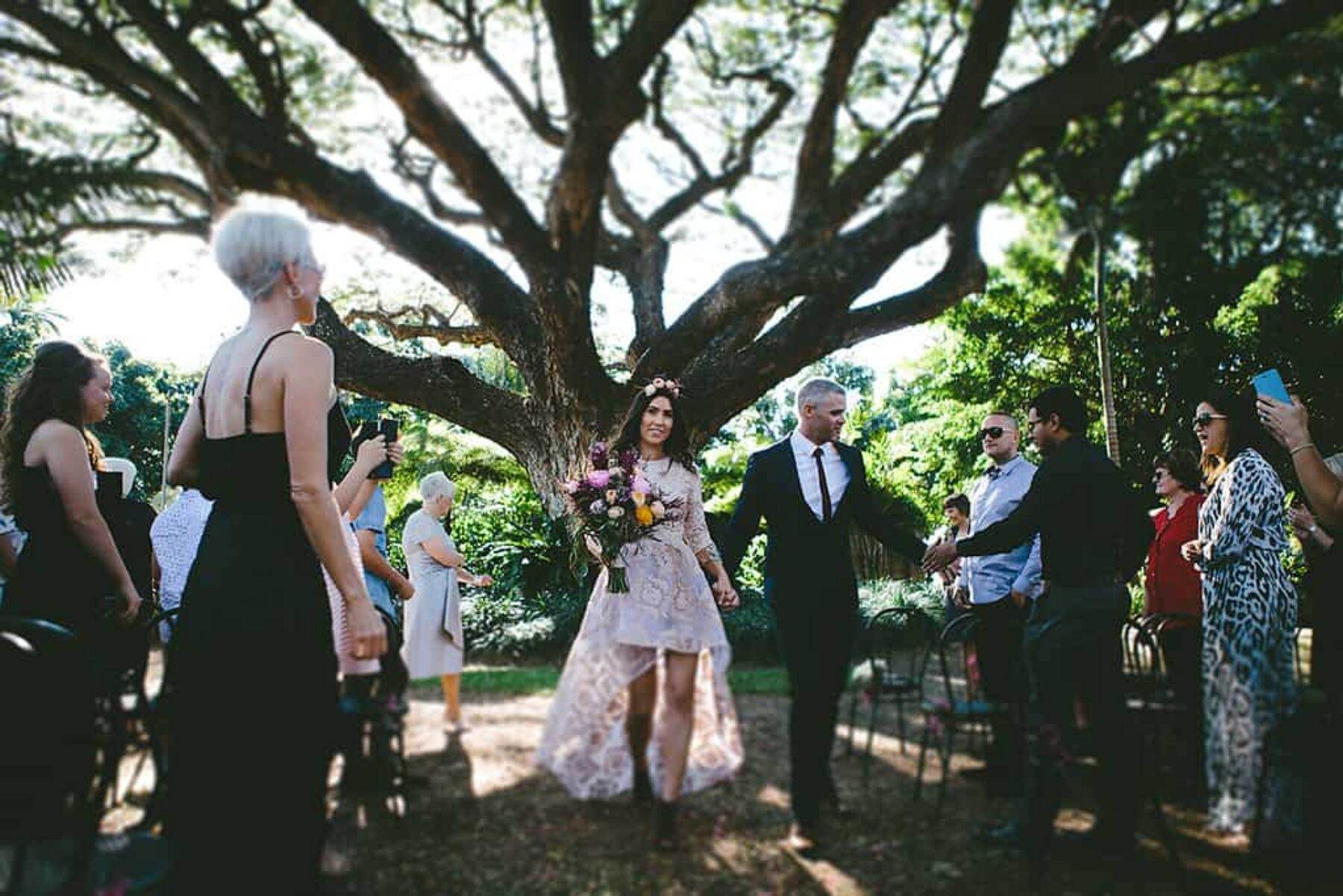 Botanical Townsville wedding in Queens Gardens