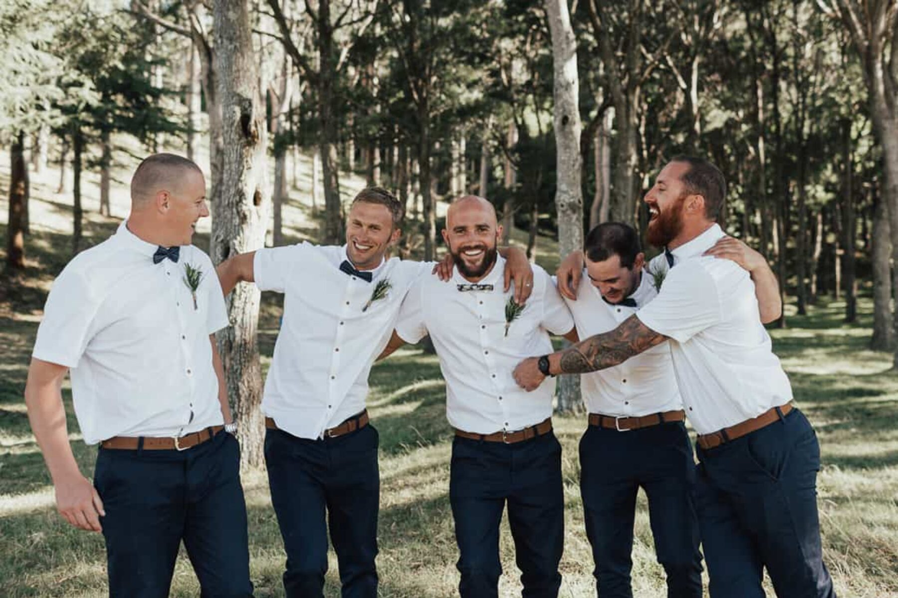 casual groom and groomsmen