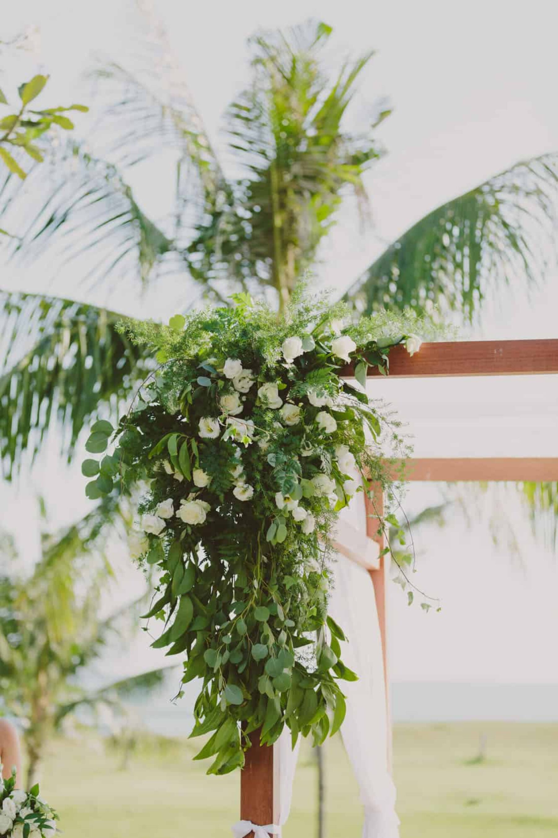 tropical wedding arch