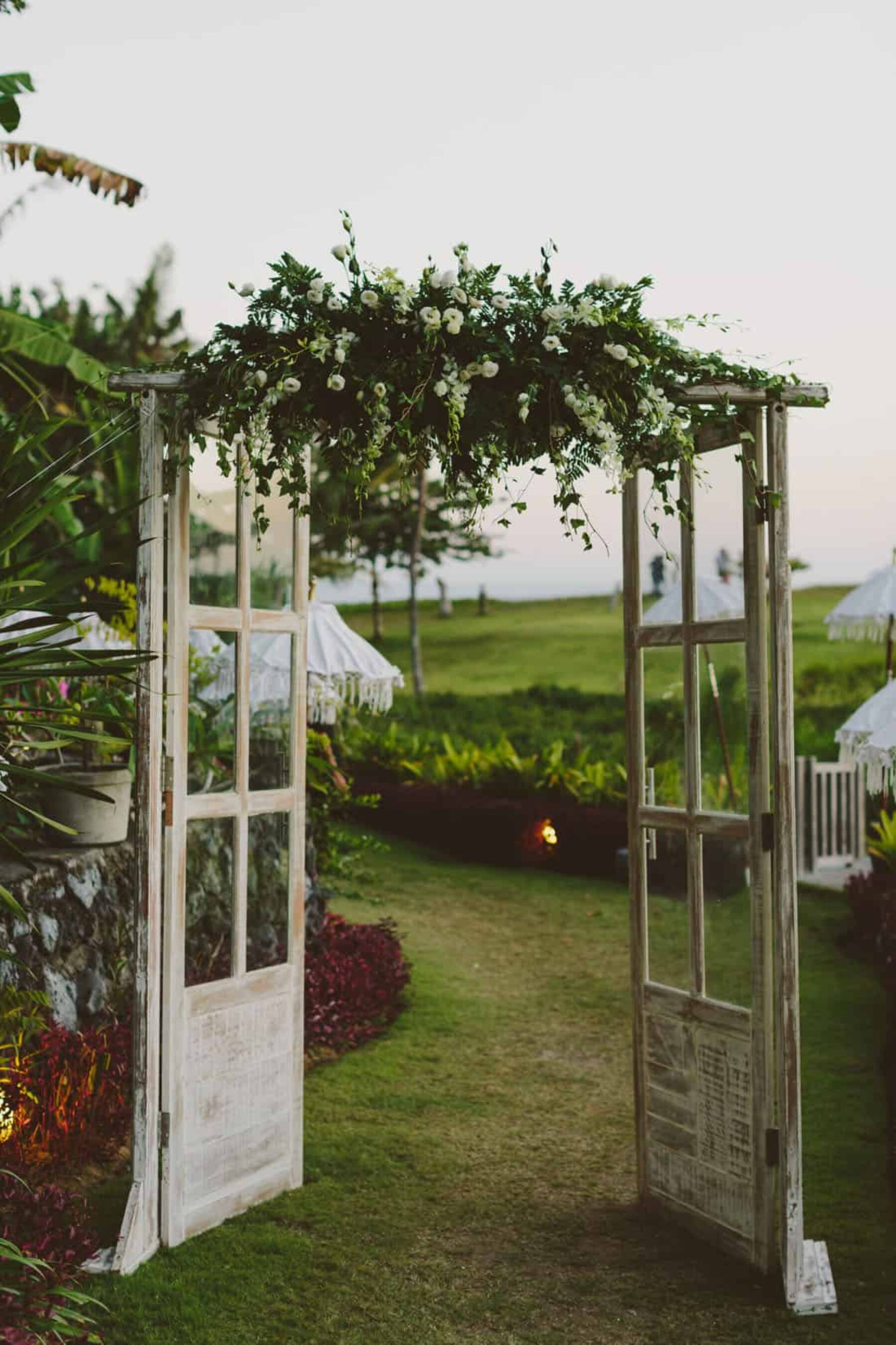 vintage doorway wedding arbour