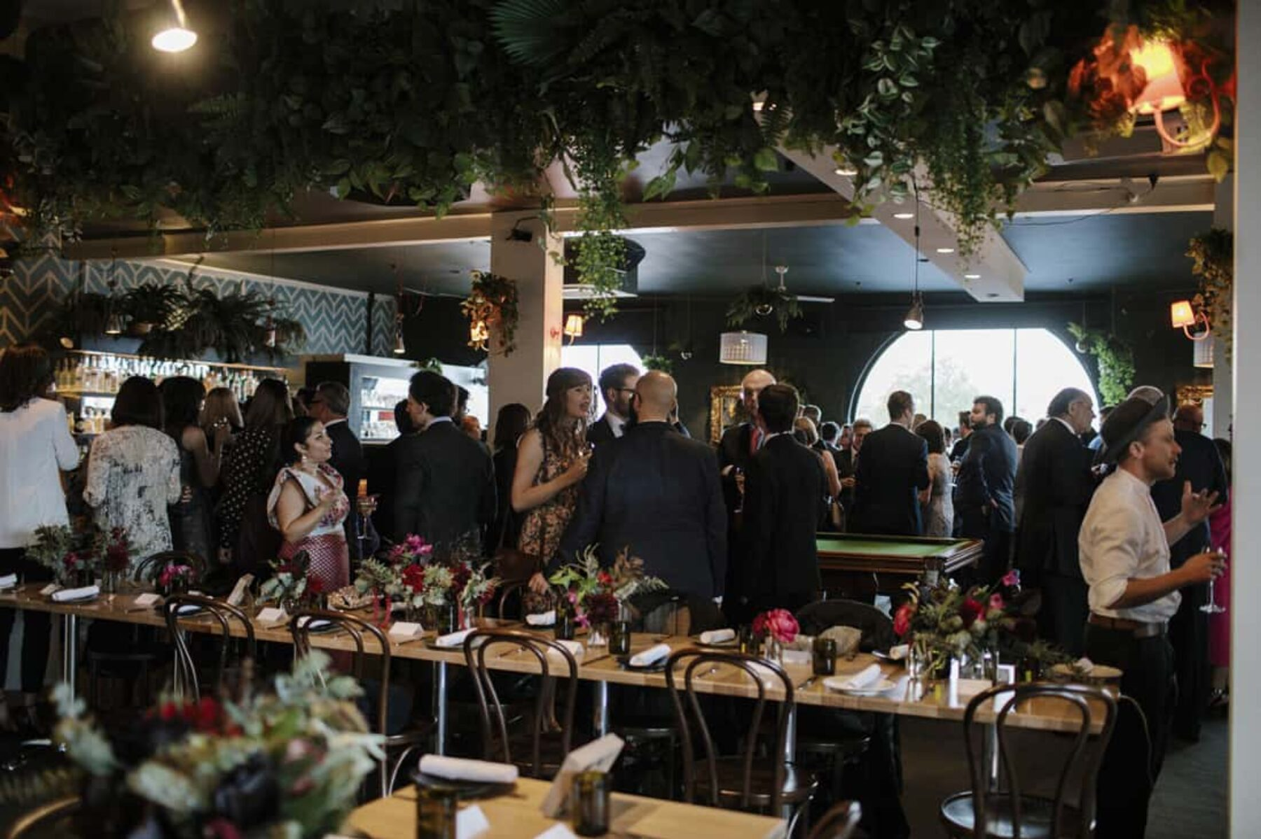 Moody Evening Wedding At Fitzroys Panama Dining Room