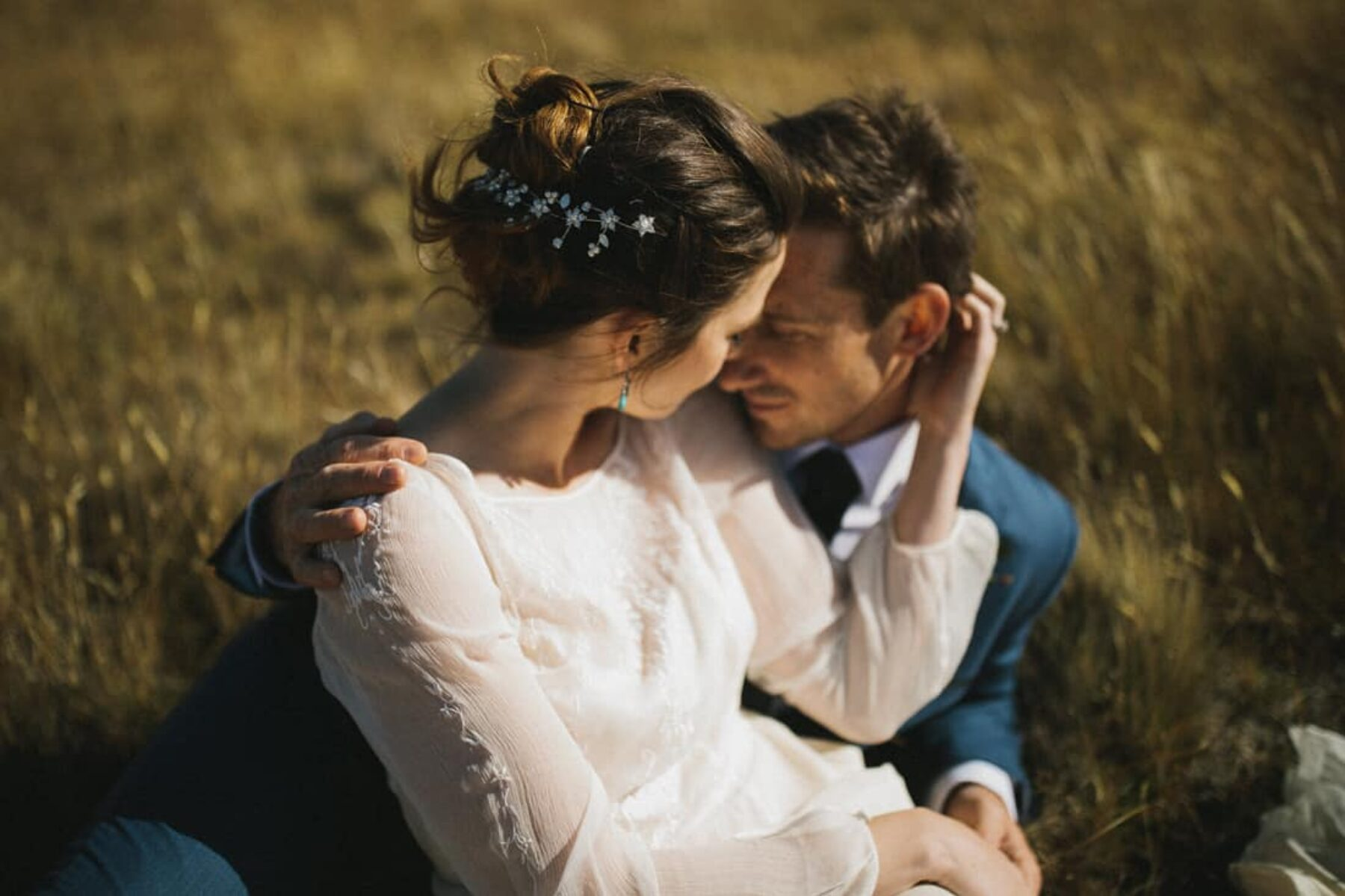 Autumn wedding in the wilderness of New Zealand's South Island