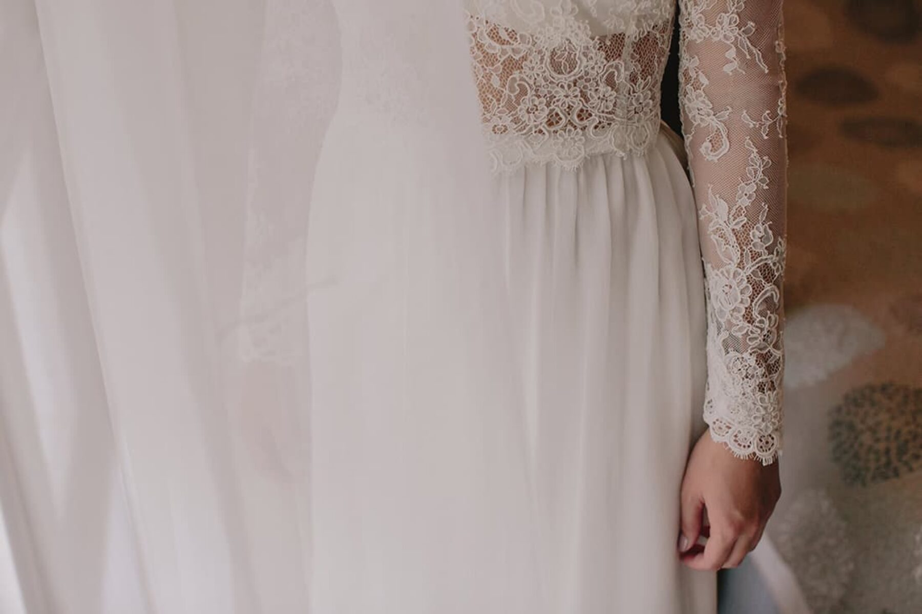 two-piece wedding dress by Karen Willis Holmes