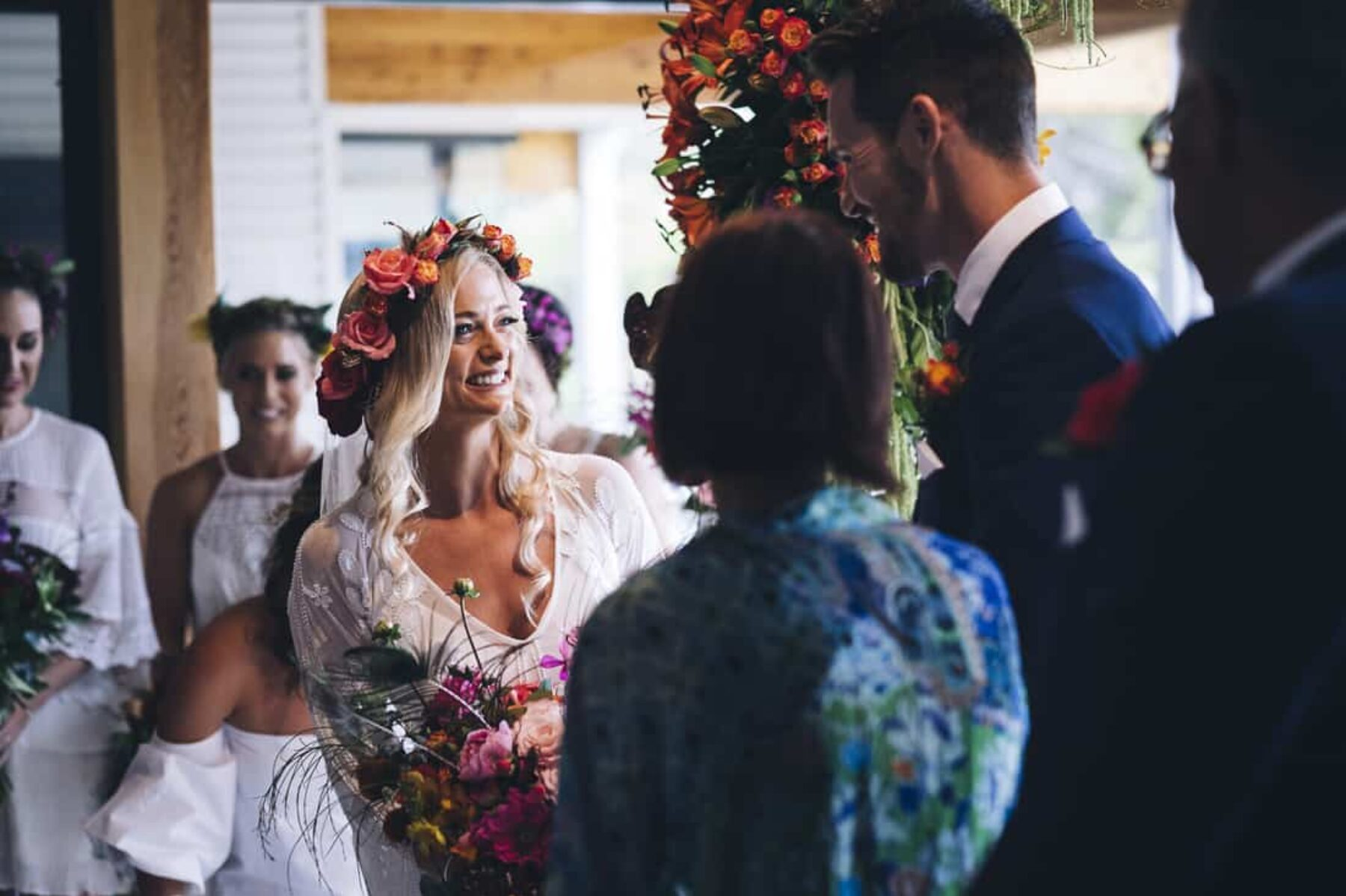flower-filled Margaret River wedding at Bunker Beach House