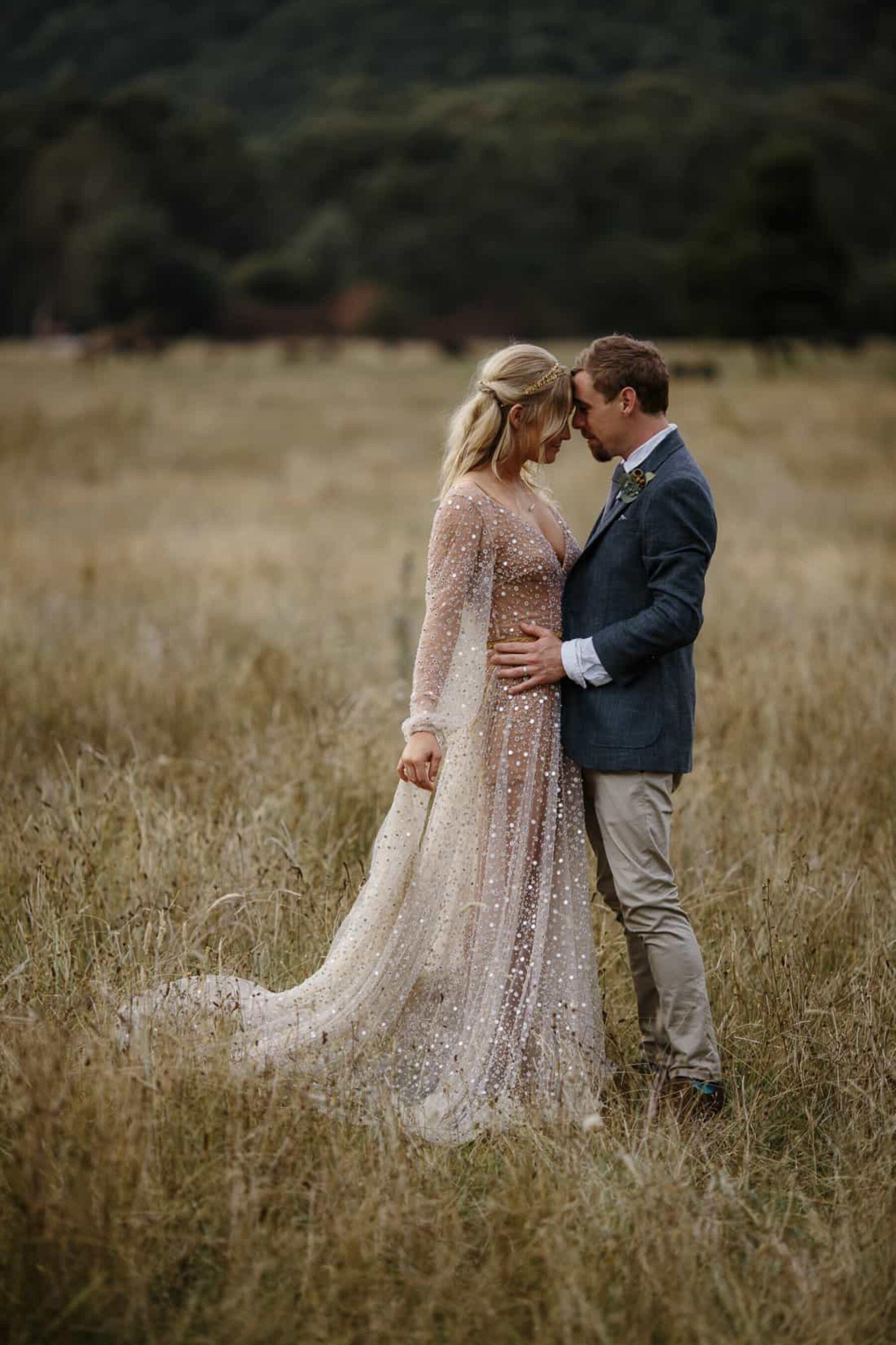 blush celestial wedding dress by One Day Bridal