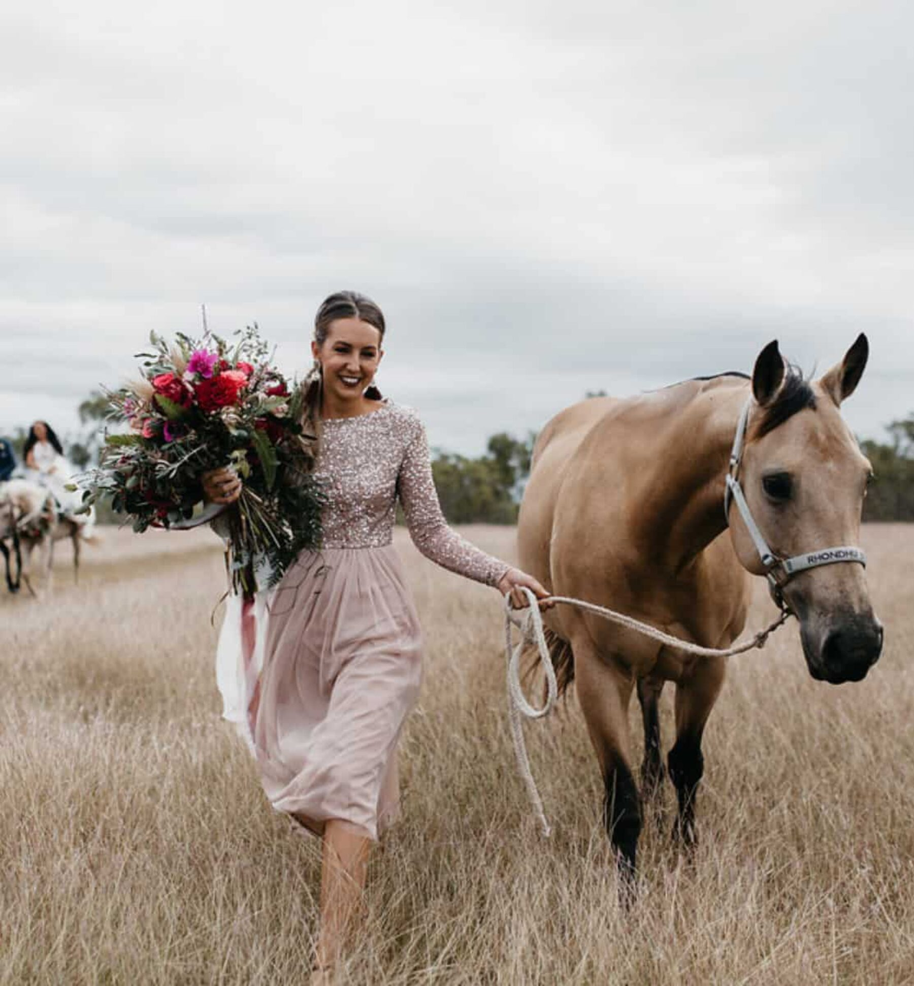 Best of 2017: Bridesmaids | blush sequinned dress