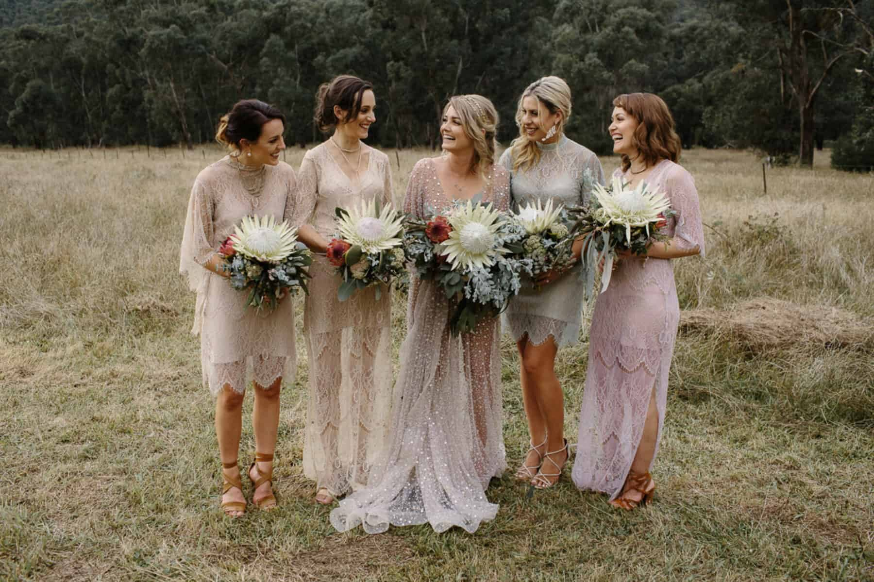 Best of 2017: Bridesmaids | mixed boho dresses by Grace Loves Lace
