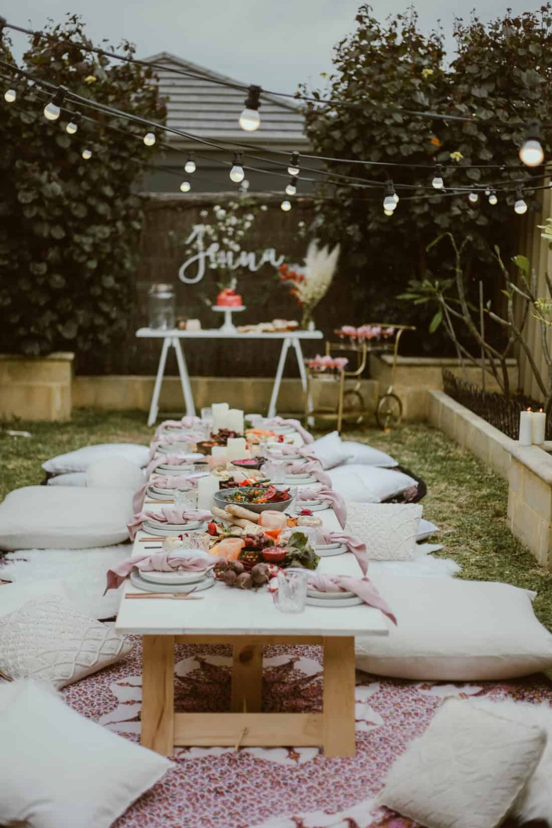 Moroccan-inspired Backyard Hen's Soiree