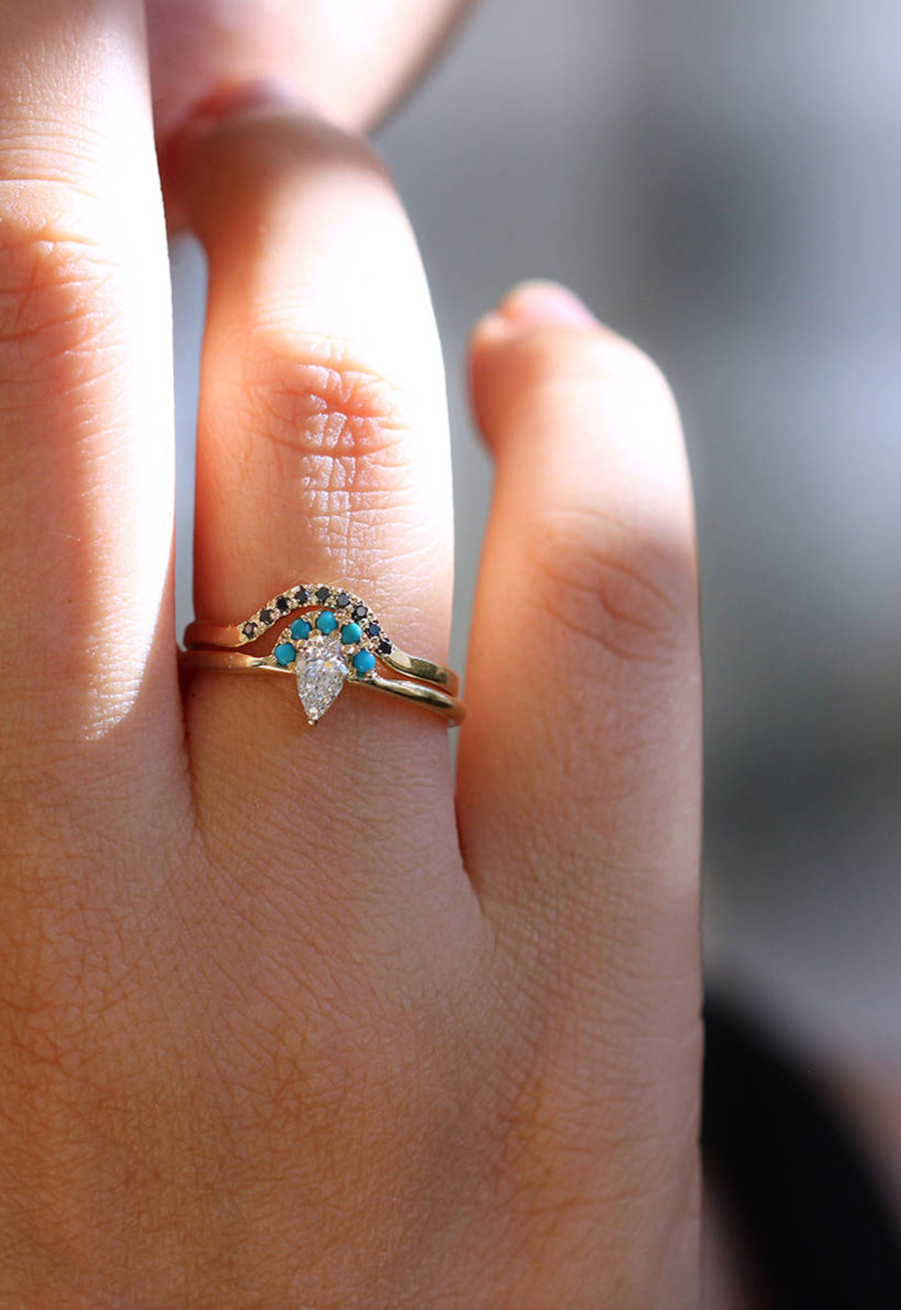 turquoise best thewhistleng black ring sea raw rings south with engagement diamonds beautiful com of