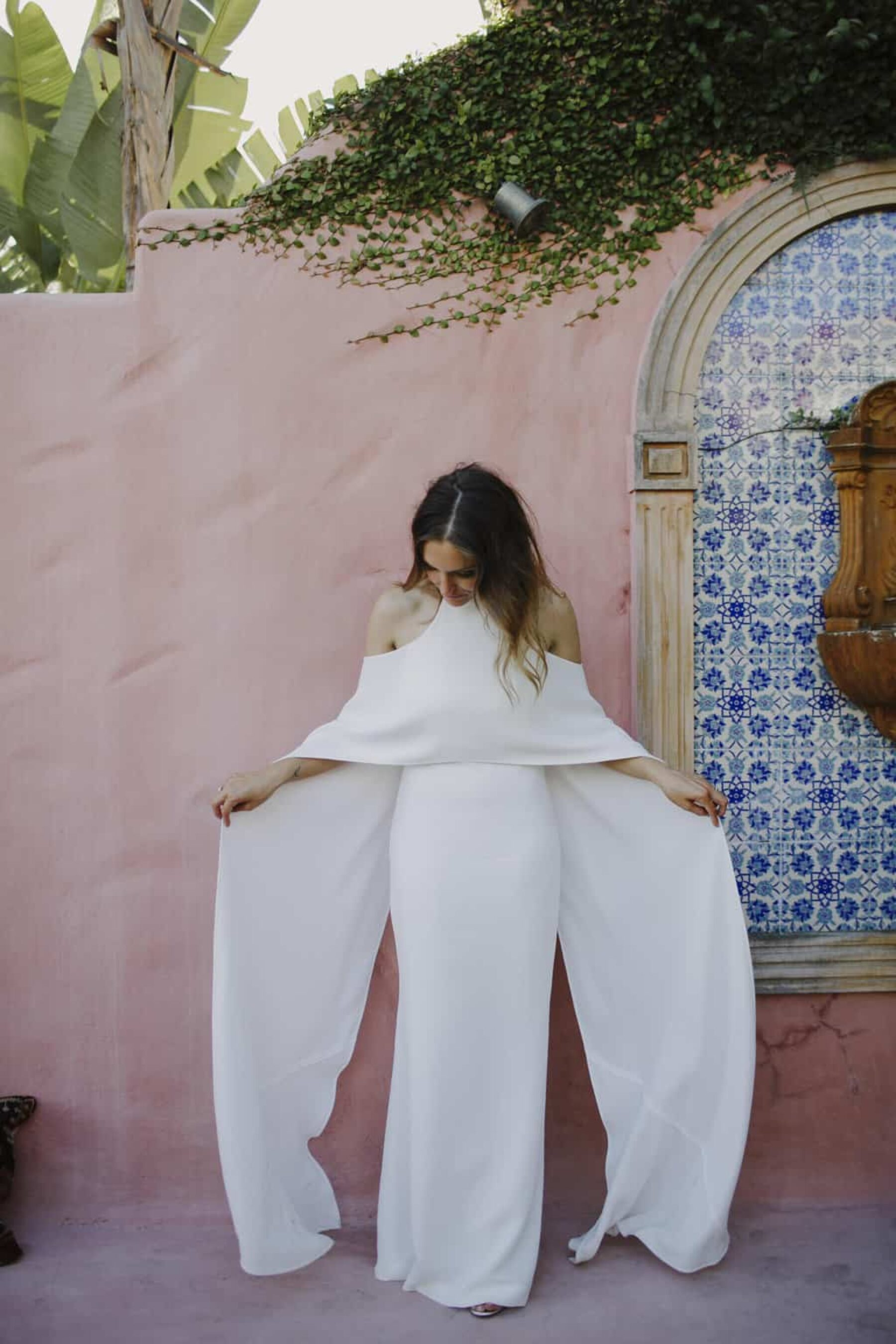 Best of 2017: Wedding dresses | off-shoulder cape gown by Carla Zampatti